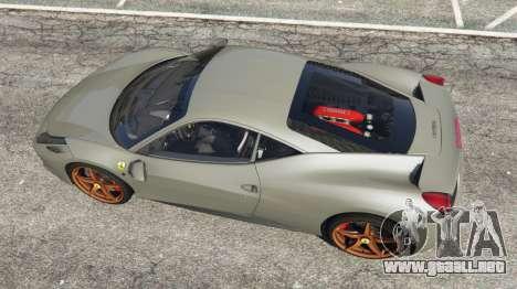 GTA 5 Ferrari 458 Italia 2009 v1.4 vista trasera
