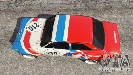 GTA 5 Ford Escort MK1 v1.1 [JE Pistons] vista trasera