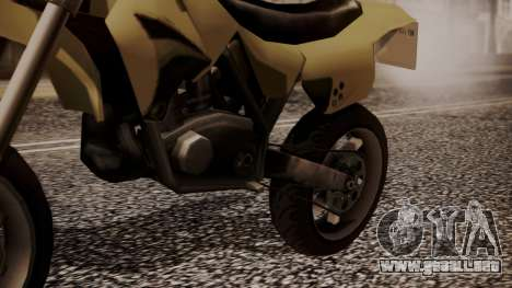 Sanchez SuperMoto para la visión correcta GTA San Andreas