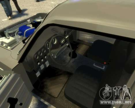 Ваз 2106 Kavkaz Estilo para GTA 4 vista interior