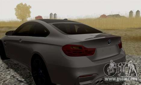 BMW M4 F82 para GTA San Andreas vista hacia atrás