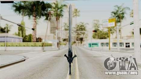 Katana from RE6 para GTA San Andreas segunda pantalla