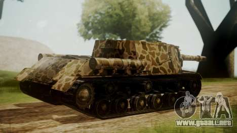 ISU-152 Panther Desert from World of Tanks para GTA San Andreas left