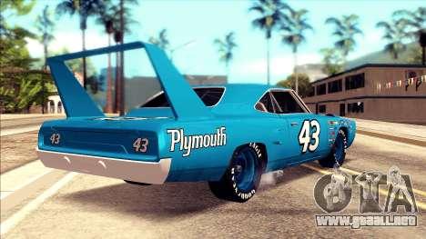 Plymouth Superbird 1943 para GTA San Andreas left