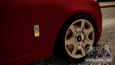Rolls-Royce Ghost v1 para la vista superior GTA San Andreas