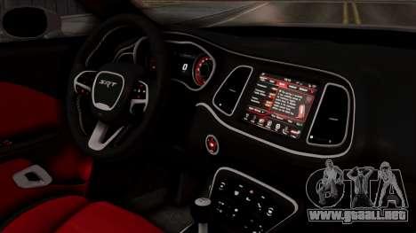 Dodge Challenger SRT Hellcat 2015 HQLM PJ para la visión correcta GTA San Andreas