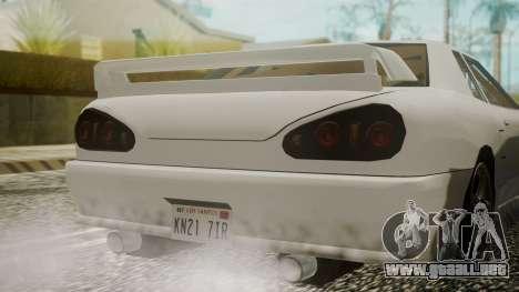 Elegy NR32 without Neon para GTA San Andreas vista hacia atrás