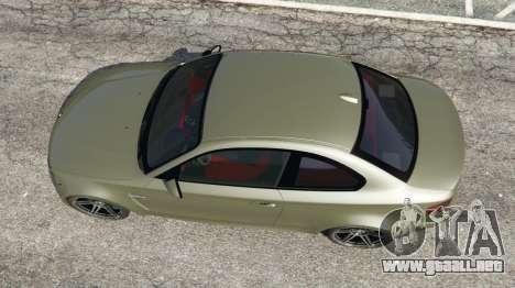 GTA 5 BMW 1M v1.2 vista trasera