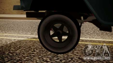 Chevrolet Bel Air Gasser para GTA San Andreas vista posterior izquierda