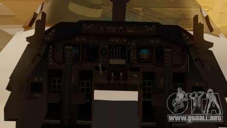 Boeing 747-200 Fly US para visión interna GTA San Andreas