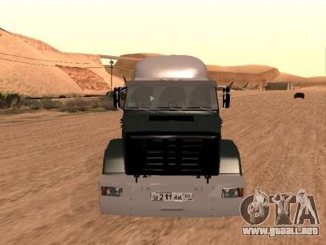 ZIL-133 05A para visión interna GTA San Andreas