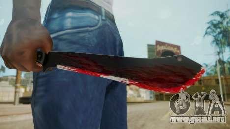 GTA 5 Machete (From Lowider DLC) Bloody para GTA San Andreas