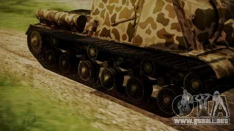 ISU-152 Panther Desert from World of Tanks para GTA San Andreas vista posterior izquierda