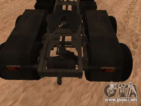 ZIL-133 05A para GTA San Andreas vista hacia atrás