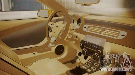 Chevrolet Camaro SS 2015 para la visión correcta GTA San Andreas