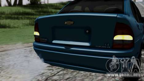 Chevrolet Corsa Classic 2009 v3 para vista inferior GTA San Andreas