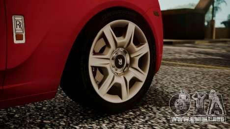Rolls-Royce Ghost v1 para GTA San Andreas vista posterior izquierda