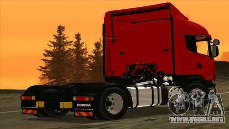 Scania R420 4x2 para GTA San Andreas vista posterior izquierda