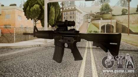 M4 by catfromnesbox para GTA San Andreas segunda pantalla