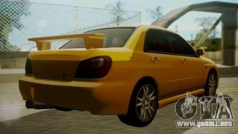 Subaru Impreza WRX GDA para GTA San Andreas left