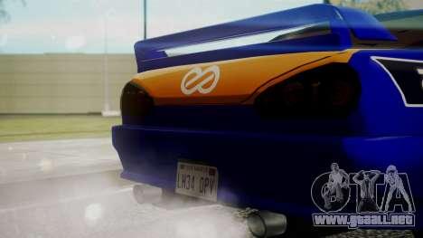 Elegy NR32 without Neon Exclusive PJ para la visión correcta GTA San Andreas
