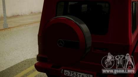 Mercedes-Benz G350 Bluetec para GTA San Andreas vista hacia atrás