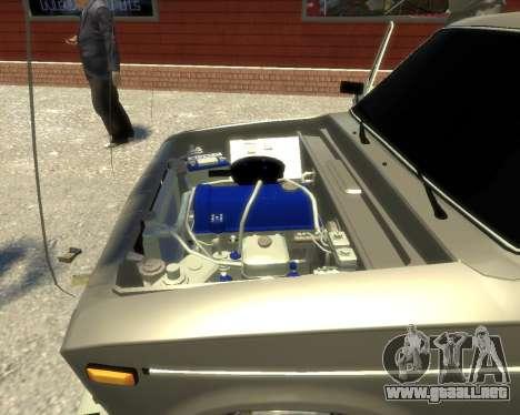 Ваз 2106 Kavkaz Estilo para GTA 4 vista hacia atrás