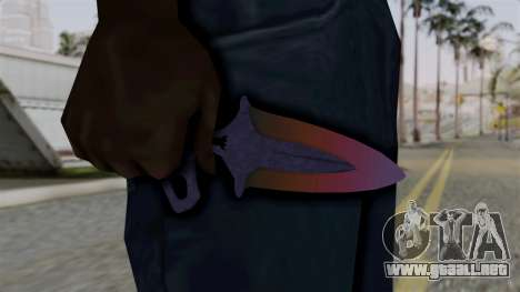 Shadow Dagger Gradient para GTA San Andreas tercera pantalla