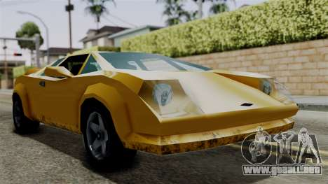 Infernus from Vice City Stories para GTA San Andreas vista posterior izquierda