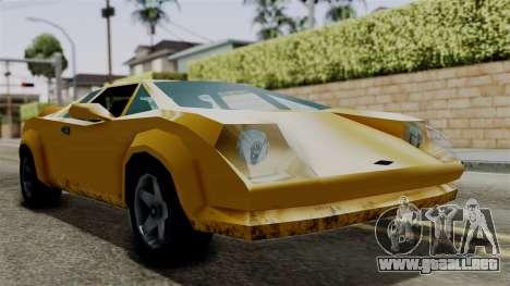 Infernus from Vice City Stories para GTA San Andreas vista posterior izquierda