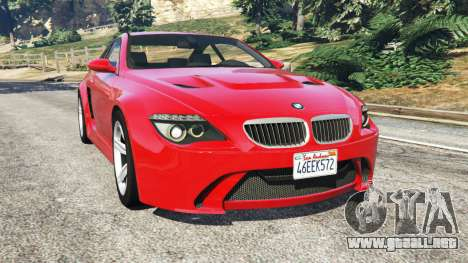 BMW M6 (E63) WideBody v0.1 [red] para GTA 5