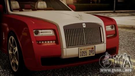 Rolls-Royce Ghost v1 para visión interna GTA San Andreas