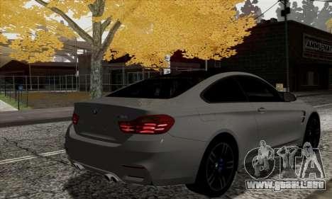 BMW M4 F82 para GTA San Andreas vista posterior izquierda