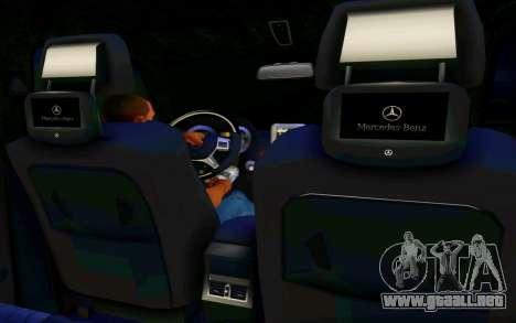 Mercedes-Benz G65 AMG para visión interna GTA San Andreas
