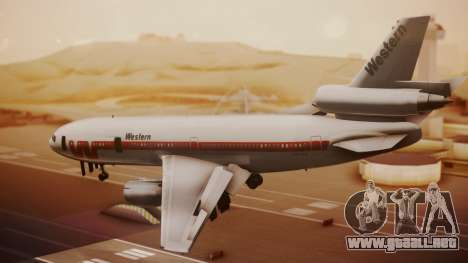 DC-10-10 Western Airlines para GTA San Andreas left