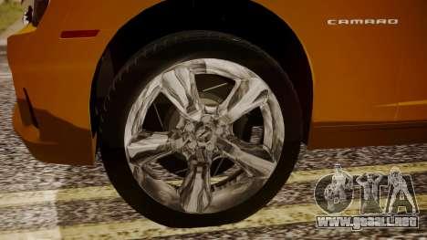 Chevrolet Camaro SS 2015 para GTA San Andreas vista posterior izquierda