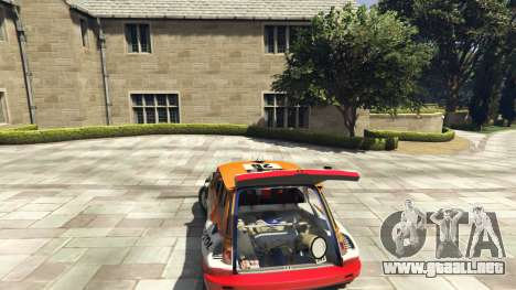 GTA 5 Renault 5 GT Turbo Rally vista lateral trasera derecha