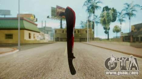 GTA 5 Machete (From Lowider DLC) Bloody para GTA San Andreas segunda pantalla