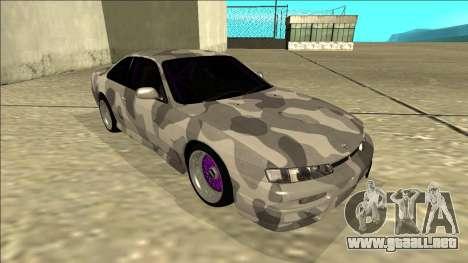 Nissan Silvia S14 Army Drift para GTA San Andreas left