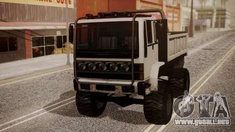 DFT Monster Truck 30 para GTA San Andreas vista posterior izquierda