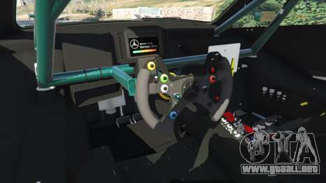 GTA 5 Mercedes-Benz C204 AMG DTM 2013 v1.0 vista lateral trasera derecha