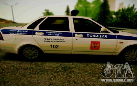 VAZ 2170 Priora DPS para GTA San Andreas left