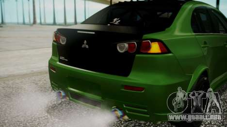 Mitsubishi Lancer Evolution X WBK para la vista superior GTA San Andreas