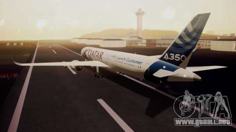 Airbus 350-900XWB Qatar Launch Customer para GTA San Andreas left