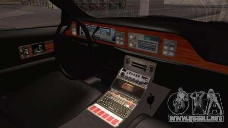 Chevy Caprice Station Wagon 1993-1996 NYPD para la visión correcta GTA San Andreas