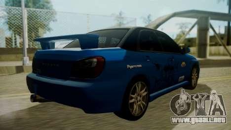 Subaru Impreza WRX GDA para el motor de GTA San Andreas