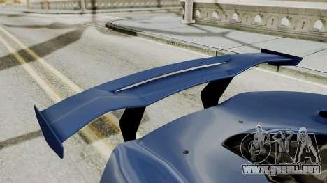 McLaren P1 GTR v1.0 para visión interna GTA San Andreas