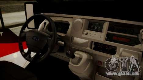 Ford Transit Jumbo Ambulance para la visión correcta GTA San Andreas