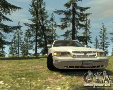 2003 Ford Crown Victoria para GTA 4 Vista posterior izquierda