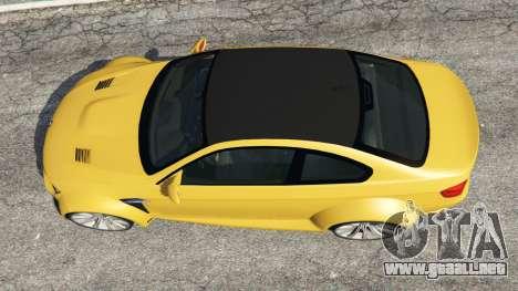 GTA 5 BMW M3 (E92) WideBody v1.1 vista trasera